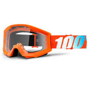 100% Strata Anti Fog Clear Goggles Kinder orange